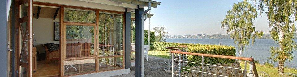Luksussommerhus ved Andkærvig - panoramaudsigt over Vejle Fjord - SOLGT LIGNENDE SØGES !