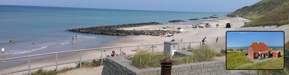 Sommerhus Lønstrup Strand med udsigt til Vesterhavet - højt beliggende med fantastisk udsigt.